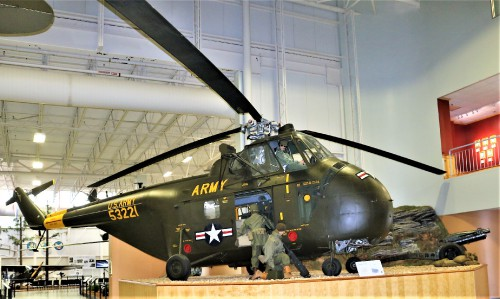Army H-19 Korean War Vintage Helicopter at US Army Aviation Museum, Fort Rucker Alabama.  Photo Courtesy: Gene Munson