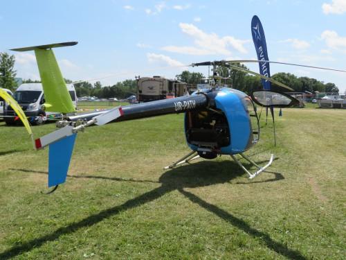 Ukrainian company Scout Aero's ultralight kit helicopter on display at Oshkosh 2019. Photo taken by Todd Hodges.