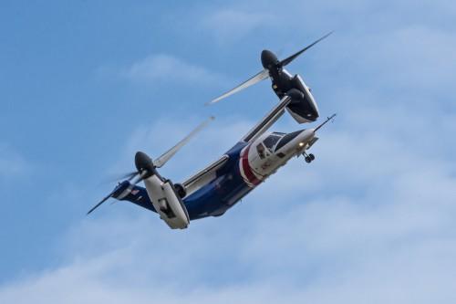 N609TR AW609 during a demo flight at Vergiate Leonardo Company plant on 20.Sep.2019