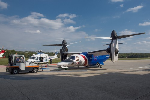 N609TR AW609 at Vergiate Leonardo Company plant on 20.Sep.2019