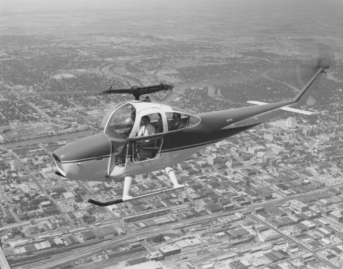 Cessna Skyhook in flight.  From Vertiflite (AHS Newsletter) Nov 1960.