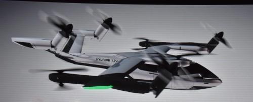 The Hyundai SA-1 virtual flight video at CES 2020 press conference.