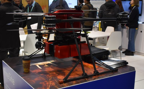 Korean conglomerate Hanscom displayed this multi-purpose octo-copter at CES 2020