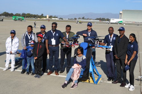 The Challengers Team at the GoFly Prize Final Fly Off on Feb. 29, 2020 at NASA Ames Research Center, Moffett Field, California. (VFS staff photo. CC-BY-SA 4.0)