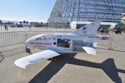 Seth Anderson's Bede 5 at the GoFly Prize Final Fly Off on Feb. 29, 2020 at NASA Ames Research Center, Moffett Field, California.(VFS staff photo. CC-BY-SA 4.0)