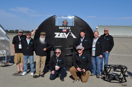 Zeva Team at the GoFly Prize Final Fly Off on Feb. 29, 2020 at NASA Ames Research Center, Moffett Field, California.(VFS staff photo. CC-BY-SA 4.0)