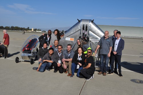 rFlight Team at the GoFly Prize Final Fly Off on Feb. 29, 2020 at NASA Ames Research Center, Moffett Field, California.(VFS staff photo. CC-BY-SA 4.0)