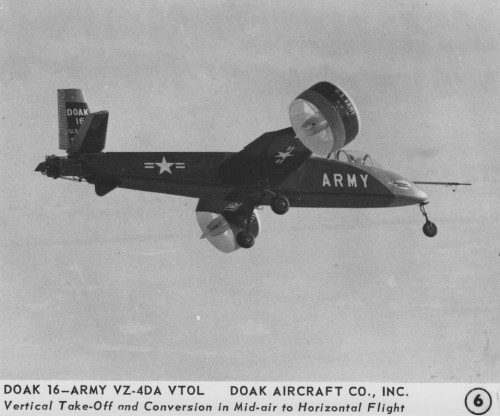 Doak Aircraft Co., Inc. model 16, VZ-4DA  Vertical Take-Off and Conversion in Mid-air to Horizontal Flight  Release June 8, 1959