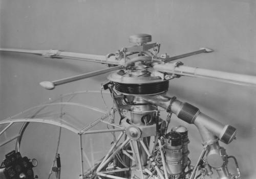 Djinn helicopter blade.  Pg 3, Fig 6, from AHS Newsletter/Vertiflite, June 1957.  Howard Levy photo